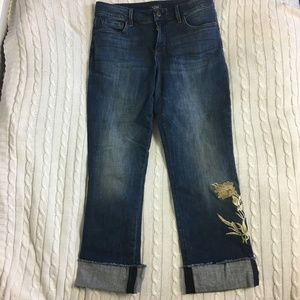 NYDJ Embroidered Marilyn Ankle Jeans Size 10